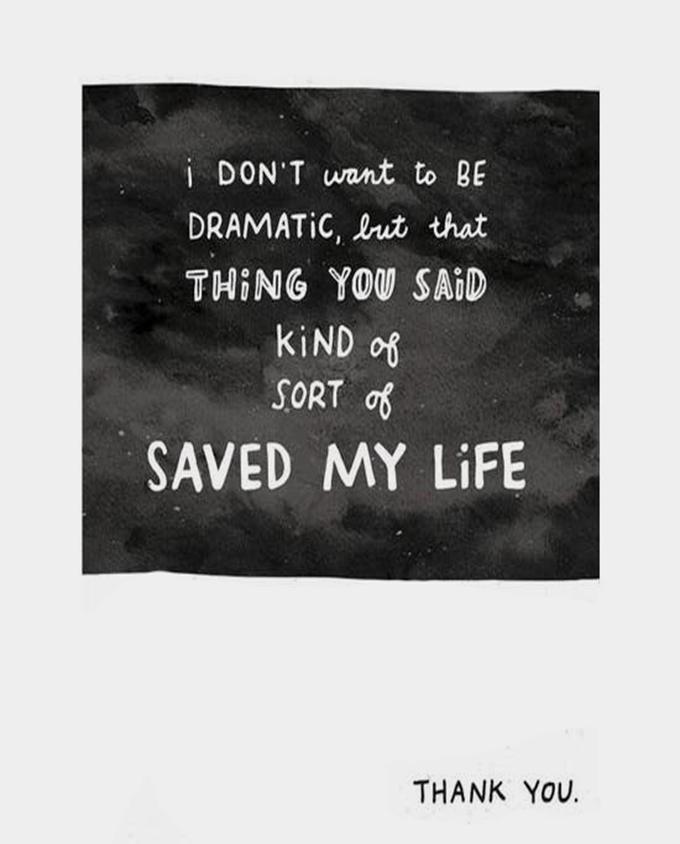 Saved My Life Card