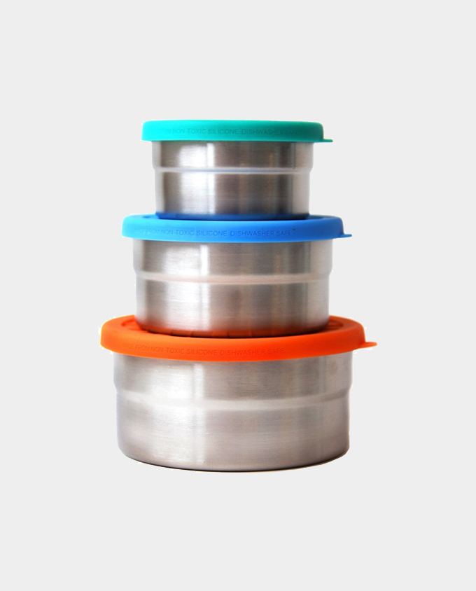 Stainless Steel and Silicone Containers